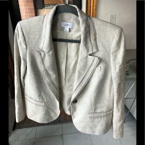 Long sleeve textured blazer